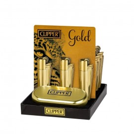 Encendedor Clipper Mechero Metal Gold