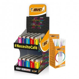 Bic Display J25 Mini Hashtag + Regalo De 100 Bolis Bic Cristal