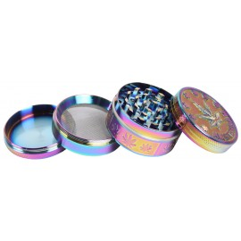 Grinder Cuádruple Rainbow Leaf